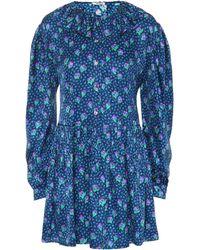Miu Miu - Floral-printed Silk Minidress - Lyst