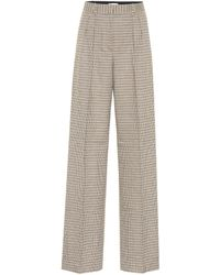 Rebecca Vallance Cocoa Checked High-rise Pants - Brown
