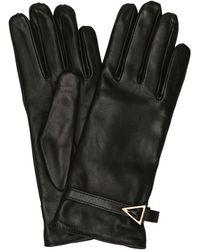 Bottega Veneta Leather Gloves - Black