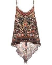 Camilla Embellished Printed Silk Camisole - Multicolor