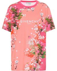 Givenchy T-shirt rose Flowers