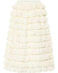 Moncler Genius Exclusive To Mytheresa – 4 Moncler Simone Rocha Ruffled Skirt - White
