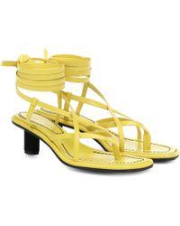 Proenza Schouler Leather Sandals - Yellow