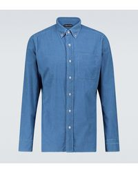 Tom Ford - Long-sleeved Corduroy Shirt - Lyst