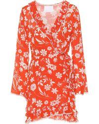 Athena Procopiou Farah Silk Minidress - Red