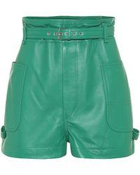 Isabel Marant Shorts Xike aus Leder - Grün