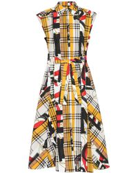 Burberry - Archive Scarf Print Cotton Dress - Lyst