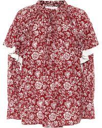 See By Chloé Blusa de voile de algodón floral - Rojo