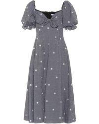 Rejina Pyo Naomi Cotton-blend Gingham Dress - Black