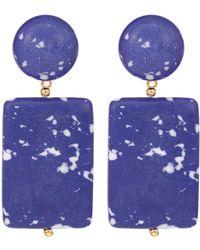 Lele Sadoughi Boucles d'oreilles Keepsake Stone - Bleu