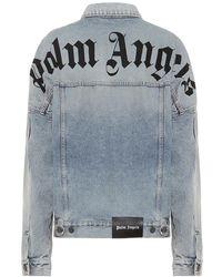 Palm Angels Giacca di jeans con logo - Blu