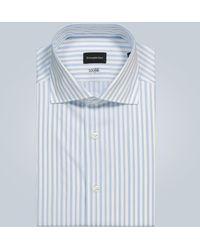 Ermenegildo Zegna Camisa de rayas - Azul