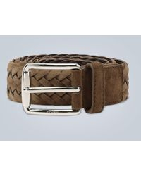 Tod's Woven Suede Belt - Brown