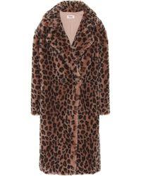 Yves Salomon Meteo Leopard-print Wool Coat - Multicolour