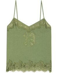 PUMA - Lace-trimmed Cotton Camisole - Lyst