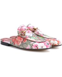 Gucci Princetown GG Blooms Slippers - Pink