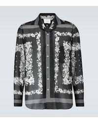 Nanushka Camisa de algodón floral - Negro