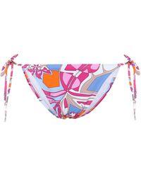 Emilio Pucci Printed Triangle Bikini Top - Multicolor