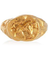 Alighieri Vergoldeter Ring Taurus aus Sterlingsilber - Mettallic