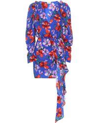 Magda Butrym Lagos Floral Silk Minidress - Blue