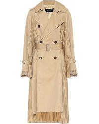 Junya Watanabe - Trench-coat plissé - Lyst