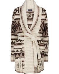 Polo Ralph Lauren Wool-blend Cardigan - Natural