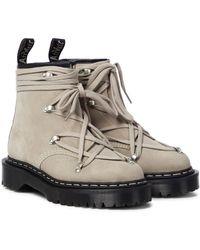 Rick Owens X Doc Marten Bex Suede Ankle Boots - Multicolour