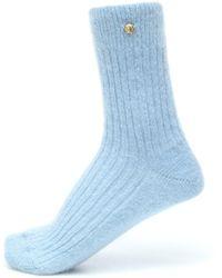 Versace Exclusivo en Mytheresa – calcetines en mezcla de mohair - Azul