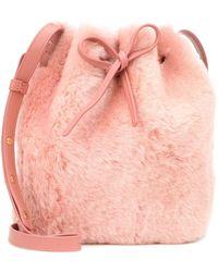 Mansur Gavriel - Mini Bucket Shearling Shoulder Bag - Lyst