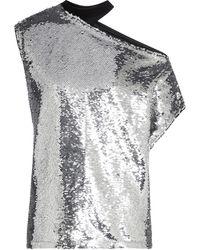 RTA Axel Sequined Top - Metallic