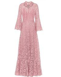 Valentino Verzierte Robe aus Spitze - Pink