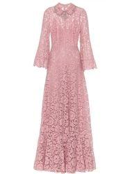 Valentino Vestido de fiesta de encaje floral - Rosa