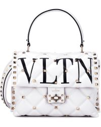 Valentino - Garavani Vltn Rockstud Leather Shoulder Bag - Lyst