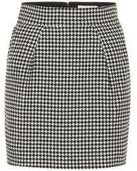 Alexandre Vauthier Mini-jupe en coton mélangé à carreaux - Multicolore