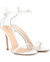 Gianvito Rossi G-string Leather Sandals - White