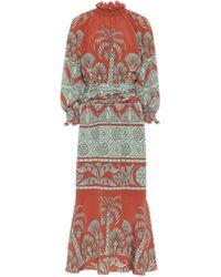 Johanna Ortiz Ataraxia Printed Crêpe Midi Dress - Multicolor