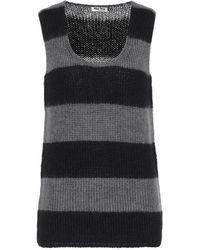 Miu Miu Mohair-blend Jumper Vest - Grey