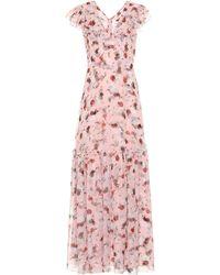 Erdem Exclusive To Mytheresa – Franceline Floral Silk-voile Gown - Pink
