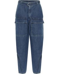Stella McCartney High-rise Tapered Jeans - Blue
