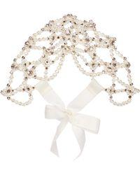 Simone Rocha Embellished Headpiece - White