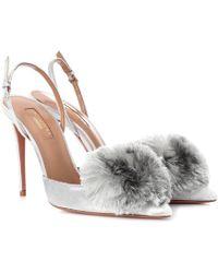 Aquazzura - Powder Puff 105 Velvet Court Shoes - Lyst