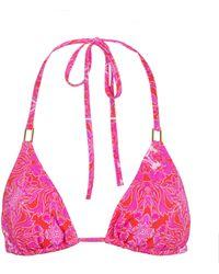 Melissa Odabash Top de bikini Cancun triangular - Rosa