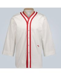 Wales Bonner Lace-trimmed Stretch-cotton Shirt - White