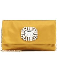 Jimmy Choo Pochette Titania en satin à ornements - Multicolore
