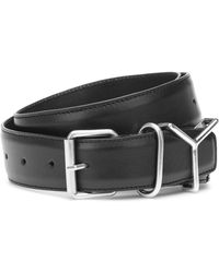 Y. Project Leather Belt - Black