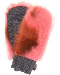 2b260a93c9e13 Prada - Handschuhe aus Wolle mit Shearling - Lyst
