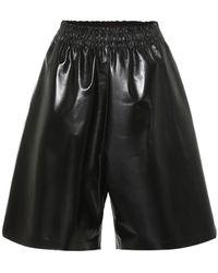 Bottega Veneta Leather Bermuda Shorts - Black