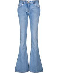 Balmain Low-Rise Flared Jeans - Blau