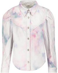 Étoile Isabel Marant Chaqueta de jeans Leona con tie-dye - Multicolor