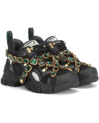 Gucci Zapatillas Flashtrek con adornos - Multicolor